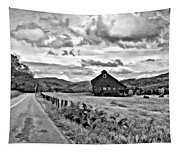 Ah...west Virginia Oil Bw Tapestry
