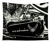Air Force Motorcycle Tapestry