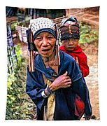 Akha Tribe II Paint Filter Tapestry