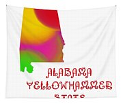 Alabama State Map Collection 2 Tapestry