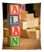 Alan - Alphabet Blocks Tapestry