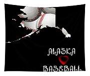 Alaska Loves Baseball Tapestry