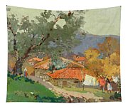 Albanian Countryside Tapestry