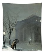 Albany In The Snow Tapestry