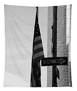 Albany Street In Black And White Tapestry