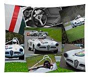Alfa Romeo Milano Collage Tapestry