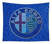 Alfa Romeo Rainy Window Visual Art Tapestry