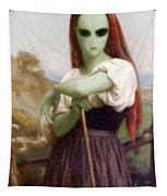 Alien Shepherdess Tapestry