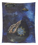Alien Space Factory Tapestry