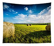 All American Hay Bales Tapestry