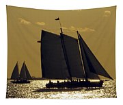 All Sails Sunset In Key West Tapestry