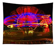 All The Rides Moving At Once Tapestry