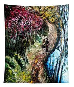 Alley By The Lake Tapestry