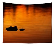 Alligator Dusk Tapestry