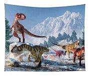 Allosaurus Pack Tapestry