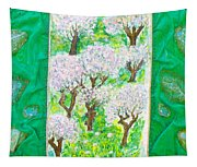 Almond Trees And Leaves Tapestry