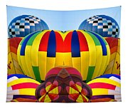Almost Inflated Hot Air Balloons Mirror Image Tapestry