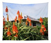 Aloe Vera And Tin Roof Plantation House Tapestry