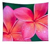 Aloha Hawaii Kalama O Nei Pink Tropical Plumeria Tapestry