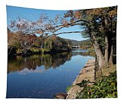 Along The River In Shelbourne Falls Tapestry