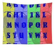 Alphabet With Apples Tapestry