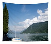 Alpine Lake With A Cypress Tree Tapestry