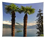 Alpine Lake With Island Tapestry