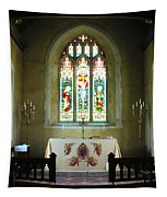 Altar And Stained Glass Window Nether Wallop Tapestry