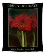 Amaryllis Flower Holiday Card Tapestry