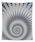Amazing Fractal Spiral With Great Depth Tapestry