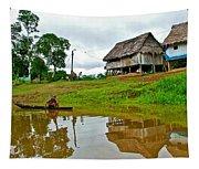 Amazon River Reflections-peru  Tapestry