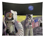 American Cat Astronauts Tapestry