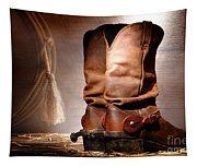 American Cowboy Boots Tapestry