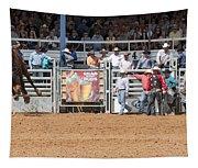 American Cowboy Bucking Rodeo Bronc Tapestry