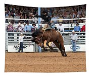 American Cowboy Riding Bucking Rodeo Bronc I Tapestry