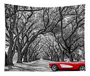 American Dream Drive Bw Tapestry