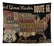 American Dream-route 66 Tapestry
