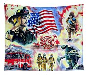 American Firefighters Tapestry