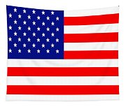 American Flag . Square Tapestry