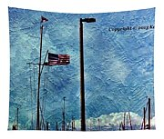 American Flag As A Painting Tapestry