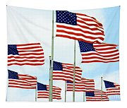 American Flags Tapestry