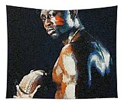 American Football Player Tapestry