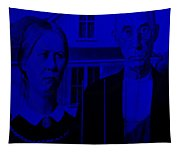 American Gothic In Blue Tapestry