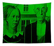 American Gothic In Green Tapestry