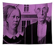 American Gothic In Pink Tapestry