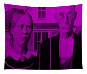 American Gothic In Purple Tapestry