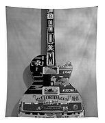 American Guitar In Black And White1 Tapestry