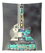 American Guitar In Neagtive Tapestry