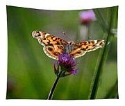 American Lady Butterfly In Garden Tapestry