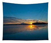 American Lake Sunrise Tapestry